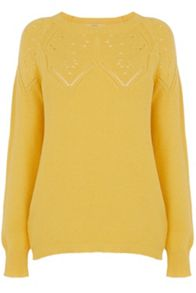 Pointelle mid gauge jumper