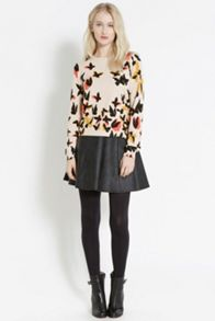 Butterfly Placement Print Jumper