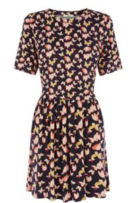 Bold Butterfly Patched Dress