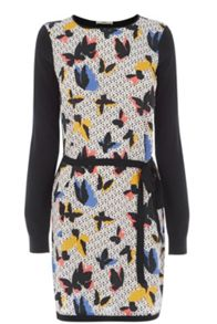Printed Woven Front Dress