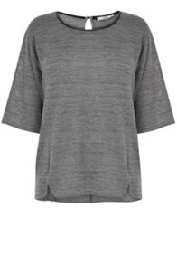 Grey Marl Drop Sleeve Sweat