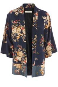 Patched Oriental Rose Kimono