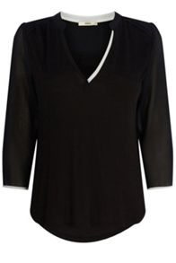 Notch Neck Blouse