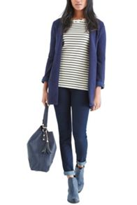 Daisy trim stripe sweater