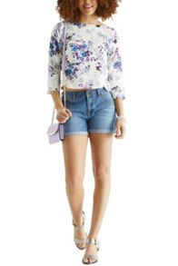 Authentic Wash Kady Denim Shorts