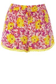 Honey Flower Pom Pom Short