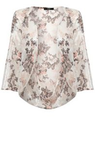 Butterfly Sequin Print Cape