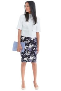 Shadow orchid pencil skirt