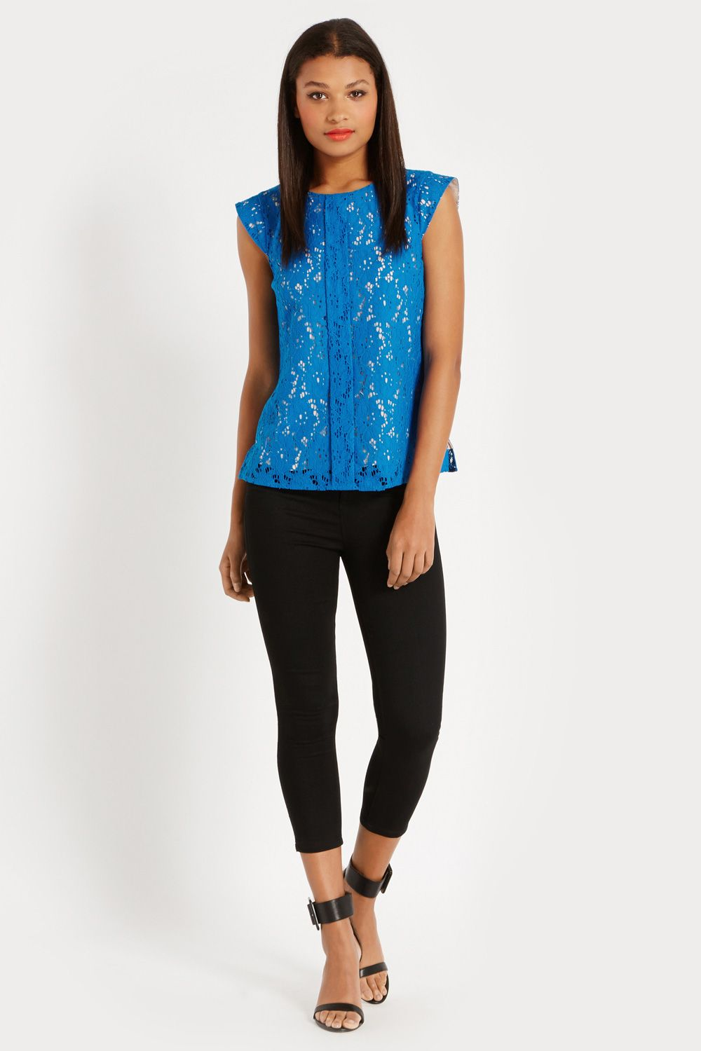 Pintuck lace top