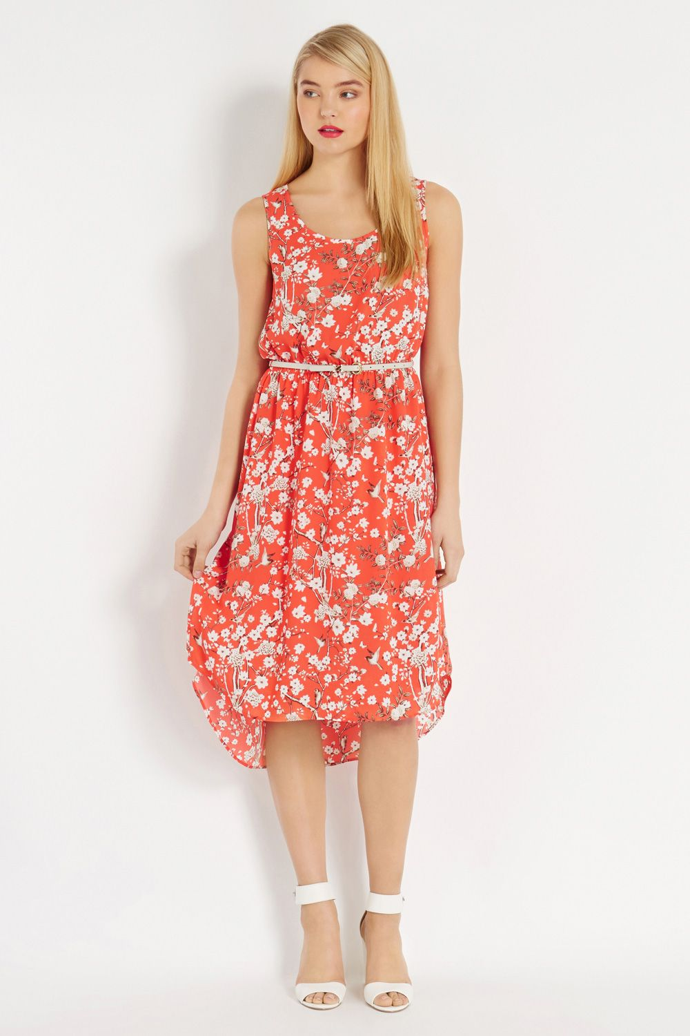 Japanese blossom midi dress
