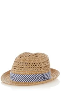 Stripe trilby hat