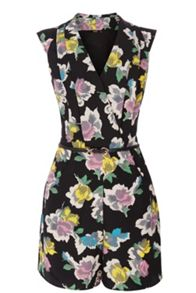 Art rose playsuit