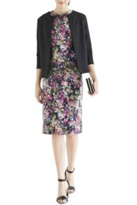 Digital floral pencil skirt