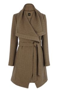 Textured Long Belted Coat