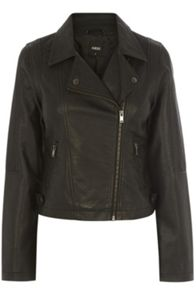 Hannah Faux Leather Biker