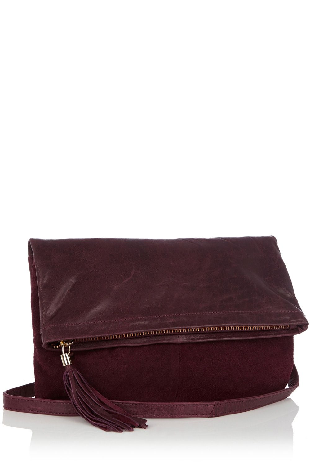 Clove Leather Clutch Cross Body