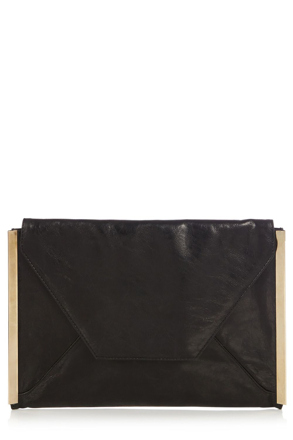 Cara leather envelope clutch bag