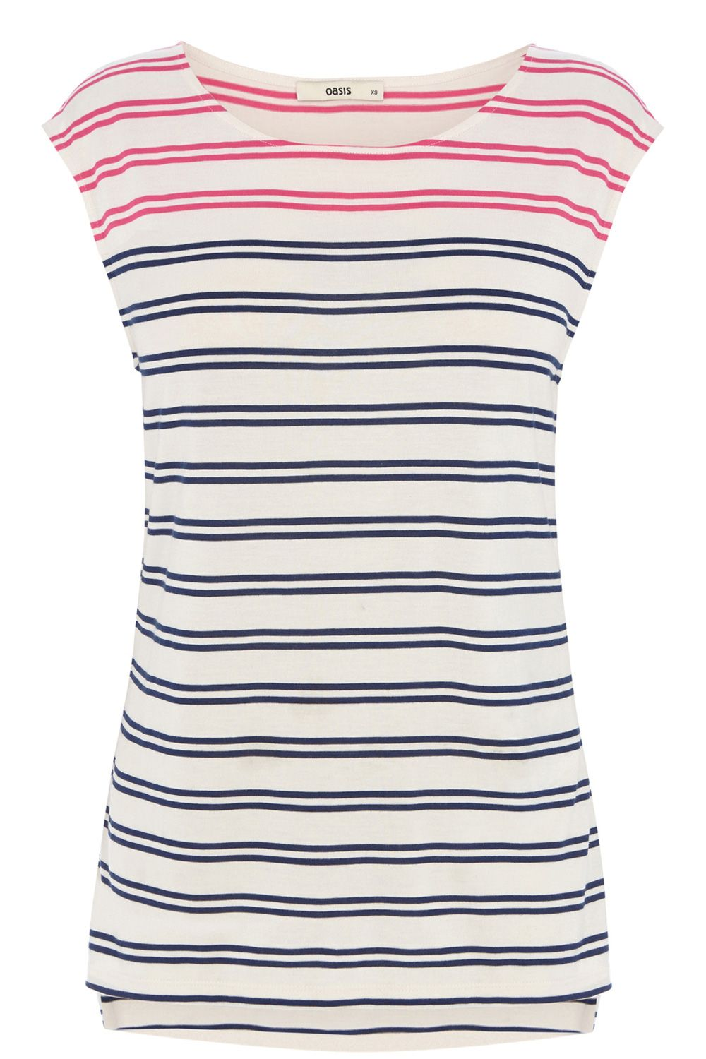 Twin stripe shell top
