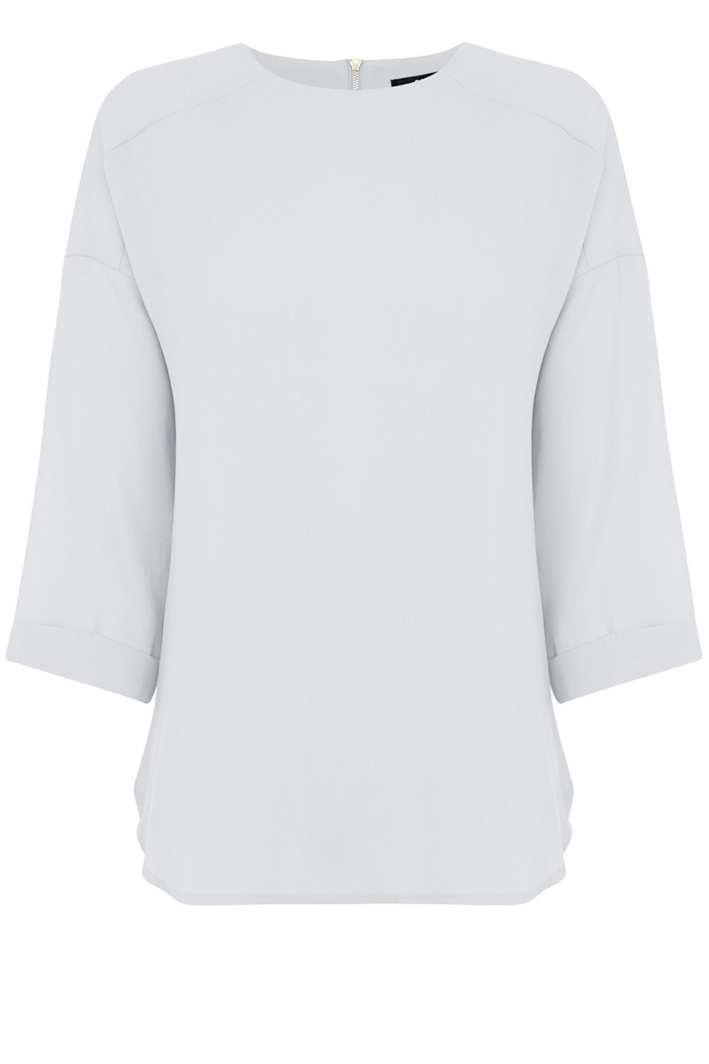 Drop sleeve woven top