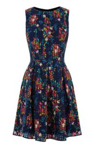 Poppy daisy skater dress