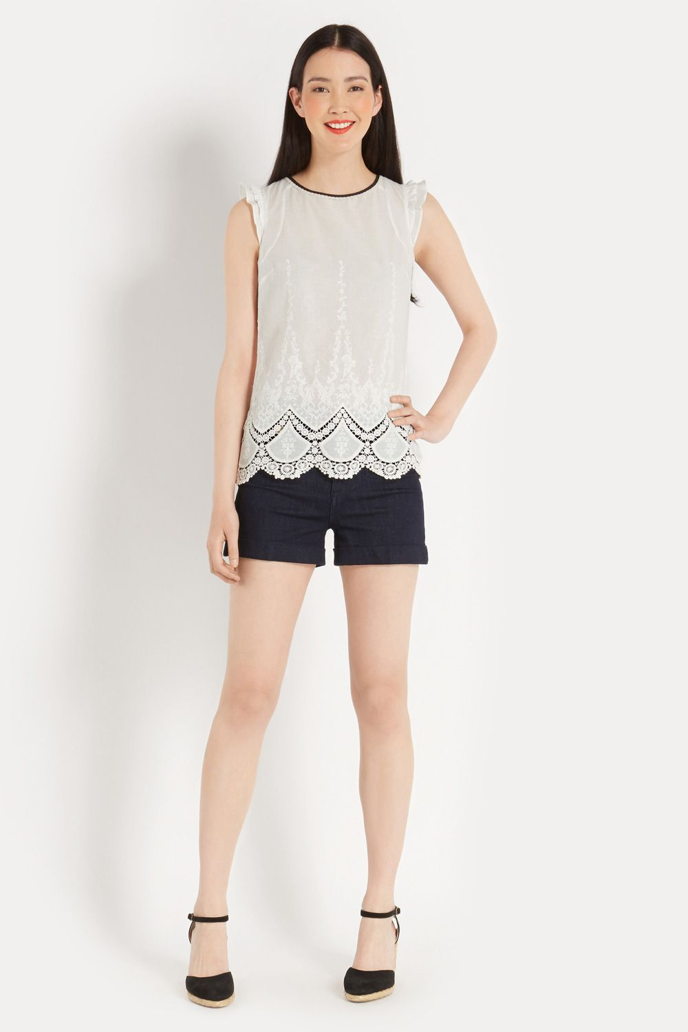 Cotton broderie top