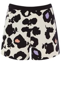 Large shadow floral shorts