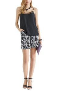Shadow floral texture shorts