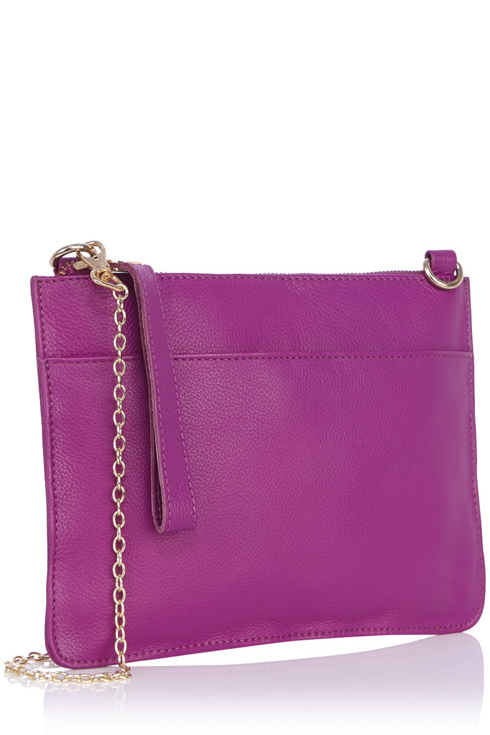 Stephanie leather clutch bag