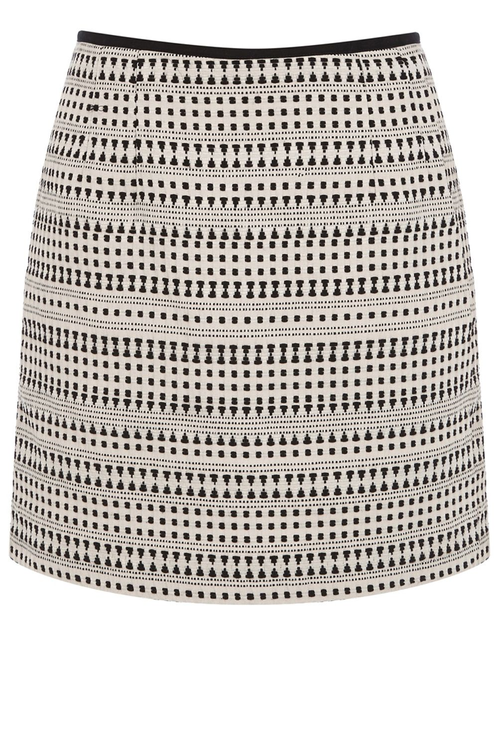 Tribal jacquard mini skirt
