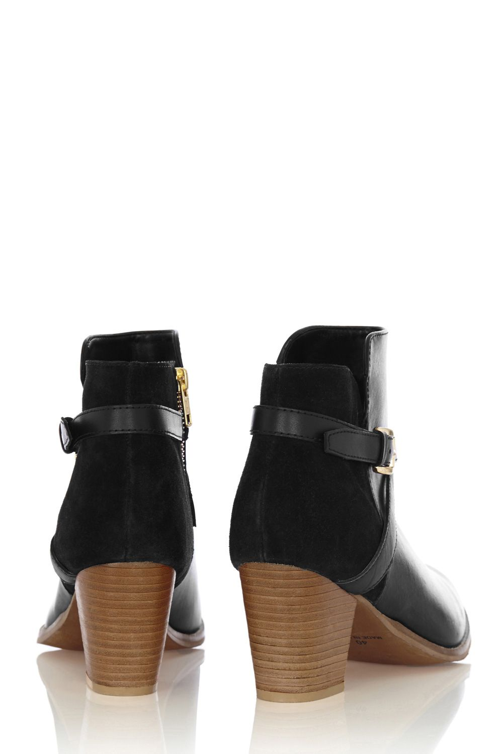 Frankie stacked heeled boots