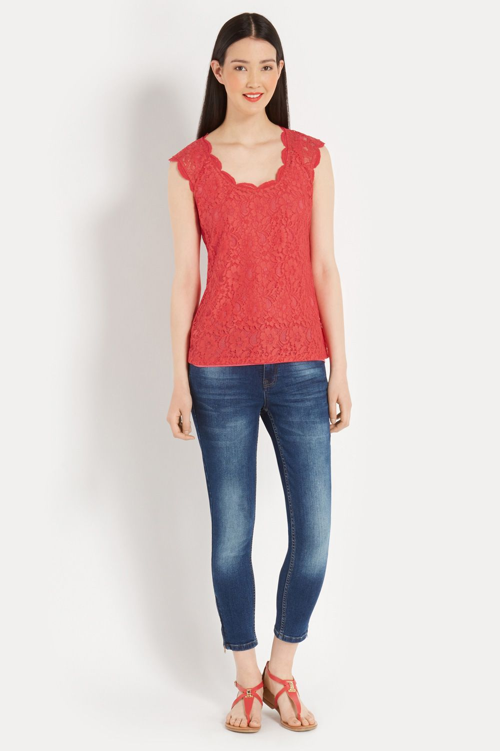 Lace Scoop T-Shirt