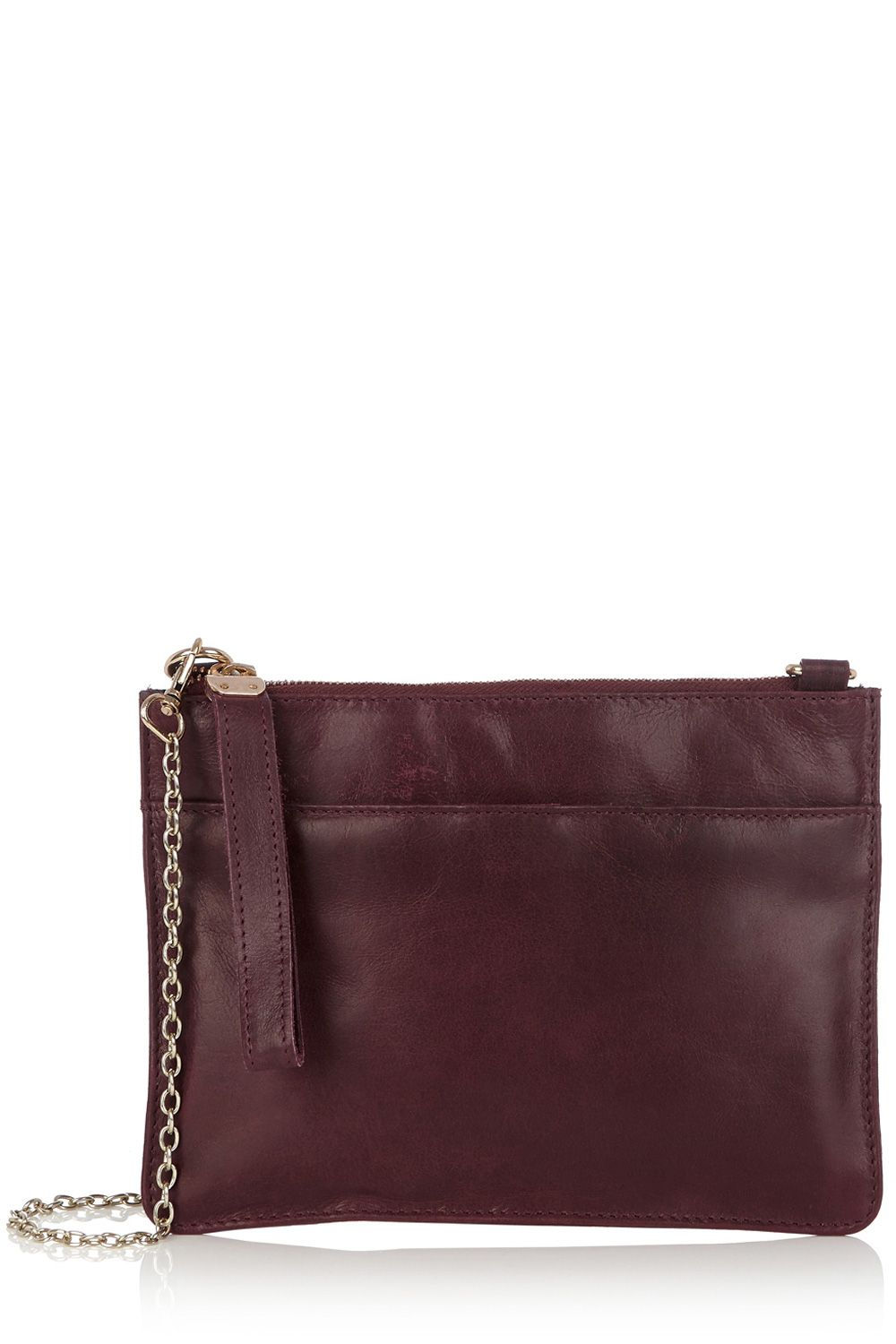 Stephanie Leather Clutch Across Body Bag