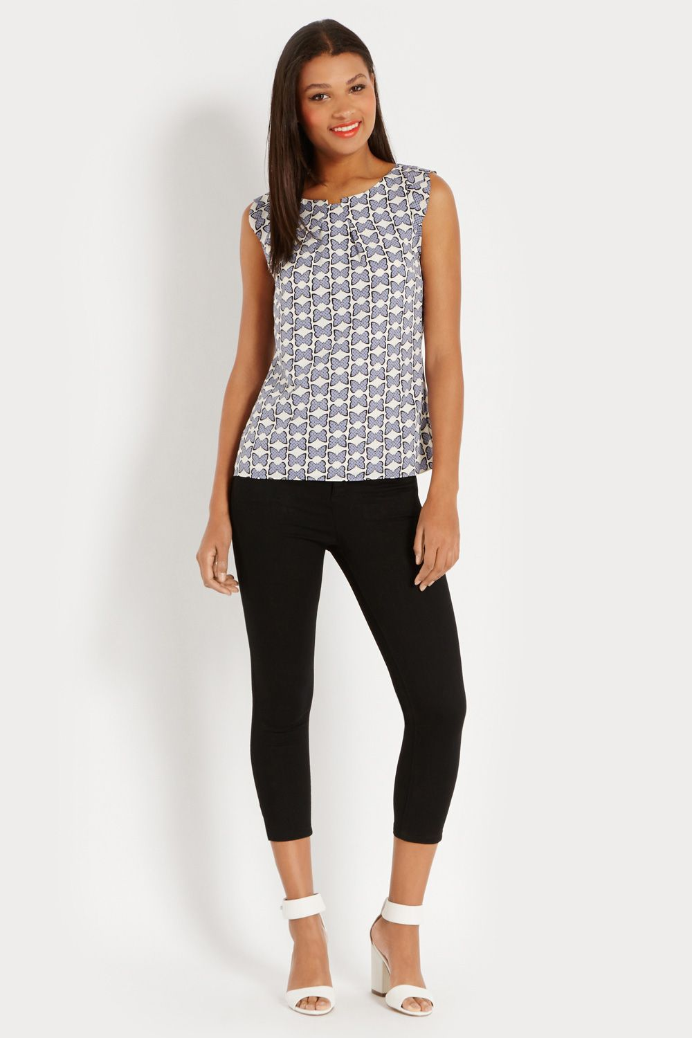 Butterfly dot shell top