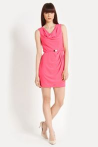 Lola cowl crepe dress