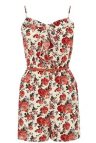Utility rose playsuit