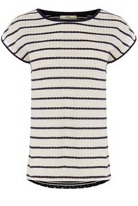 Lace Wiggle Stripe T-shirt