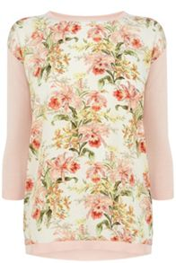 Botanical Woven Front Top