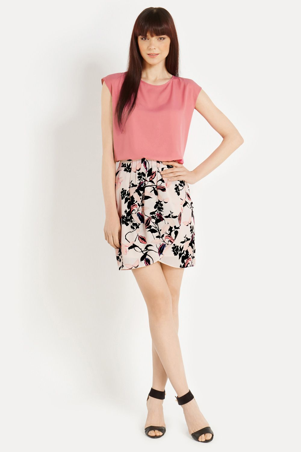 Trailing Floral Drape Skirt