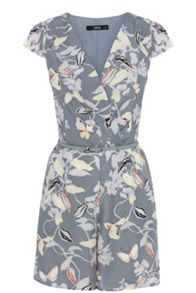 Trailing floral playsuit