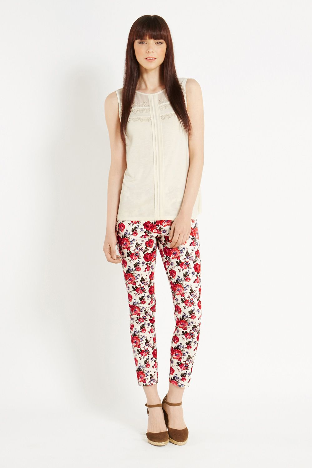 Painted rose trouser