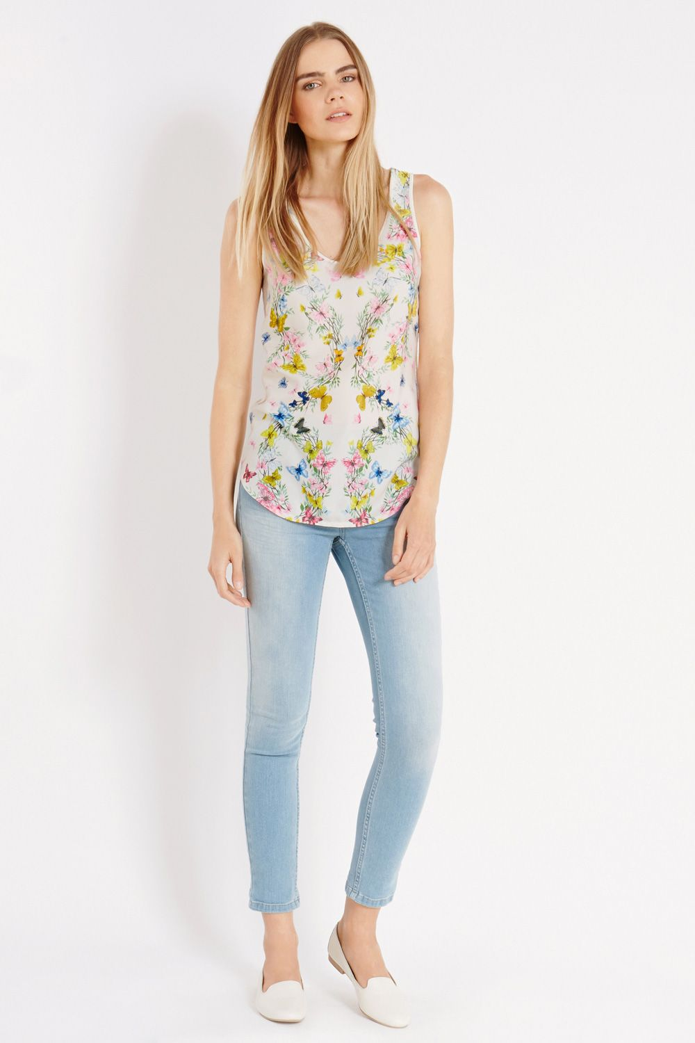 Butterfly placement vest top