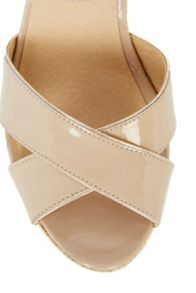 Felicity Leather Cross Over Wedge