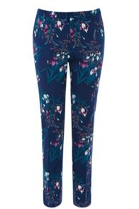 Iris Print Structured Trousers