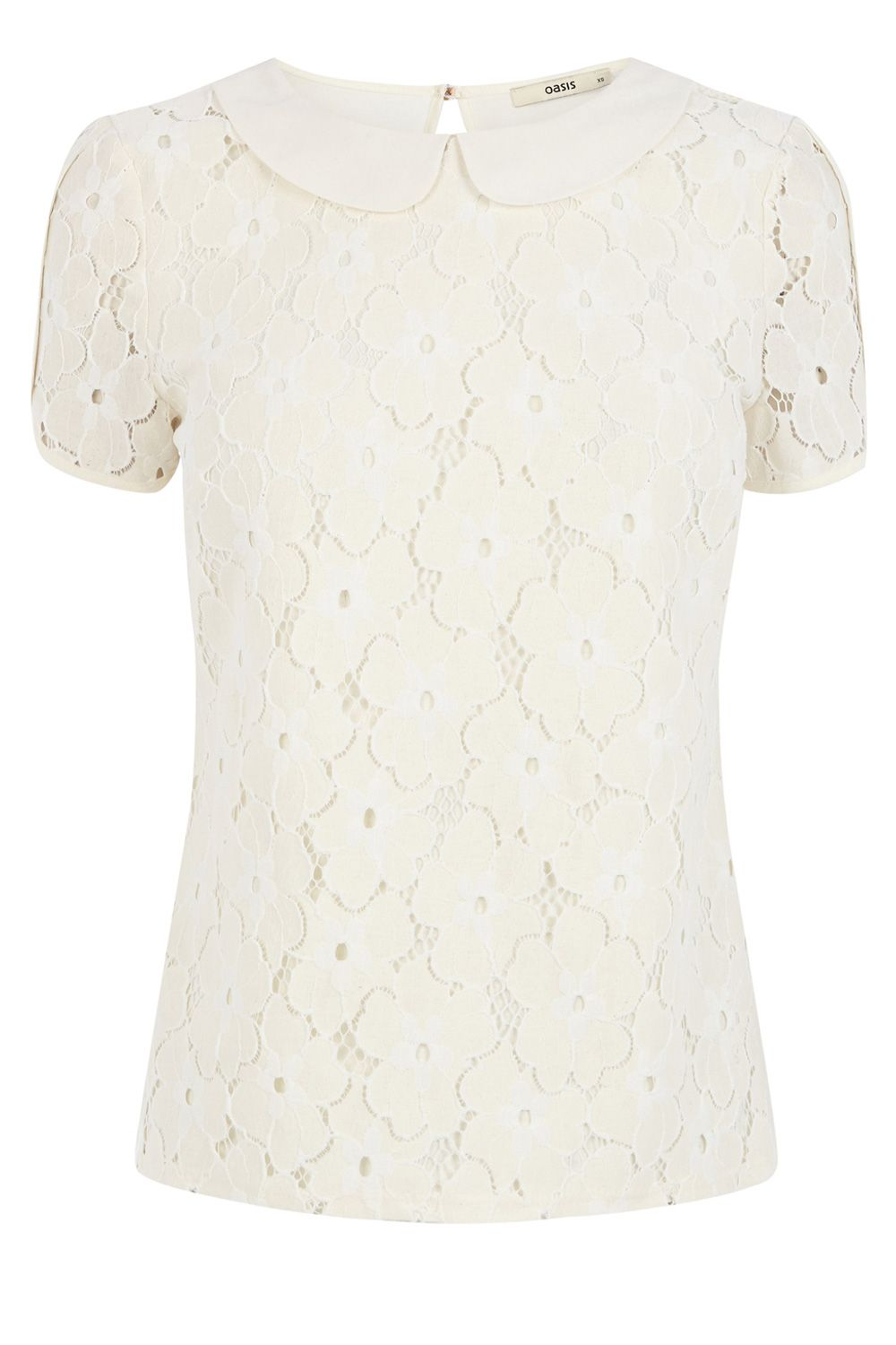 Collar Lace T-Shirt