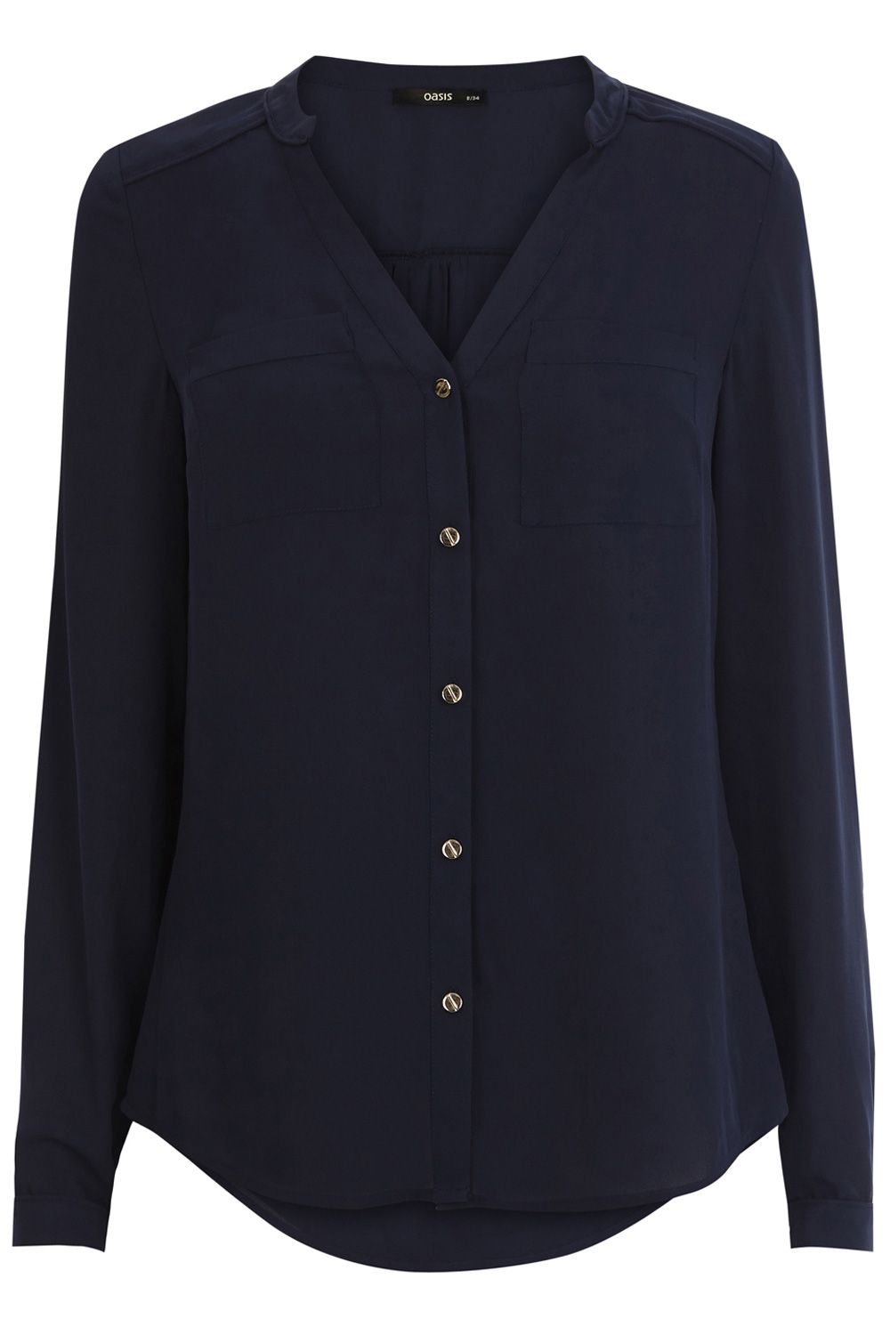 Plain Piped Yoke Shirt