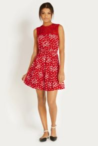 Scattered Clover Viscose Dress