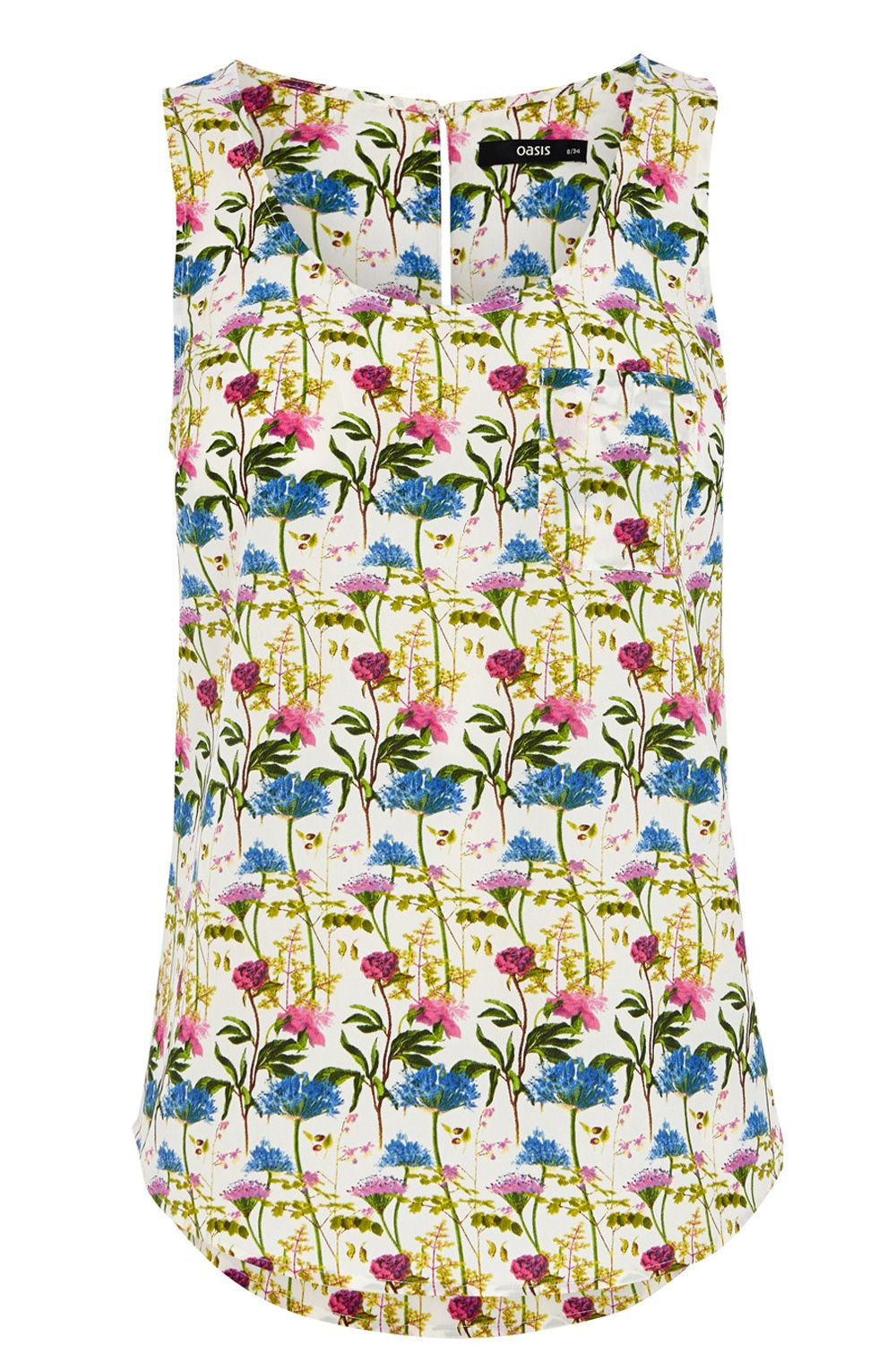 Botanical Lady Print Vest