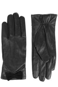 Scallop Bow Leather Glove