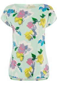 Bold Bloom Print T-shirt