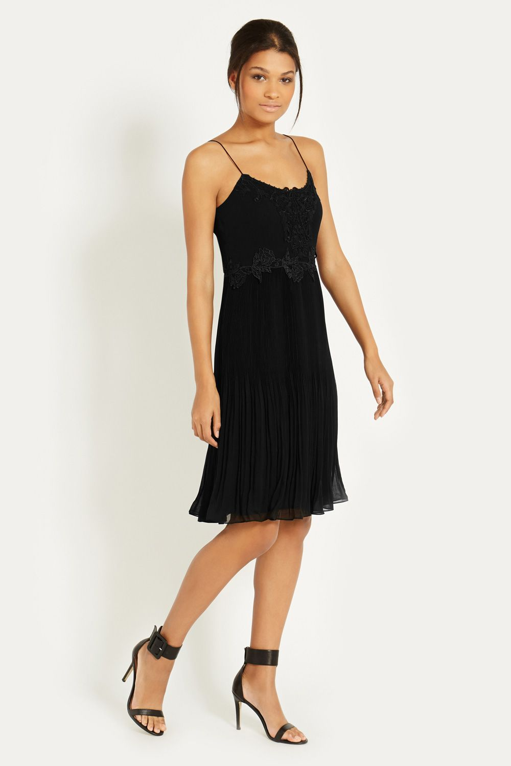 Lingerie Pleated Midi Dress